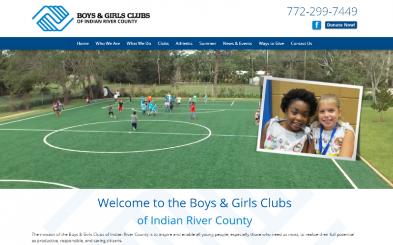 Boys and Girls Club Vero Beach homepage