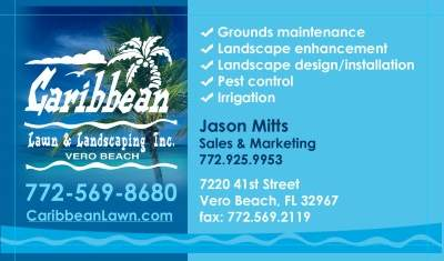 Caribbean Lawn and Landscaping Inc. Business Card