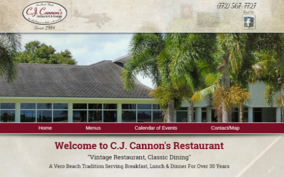 C.J. Cannon's Restaurant. This link opens new window.