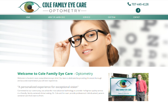 Visit Cole Family Eye Care. This link opens new window.