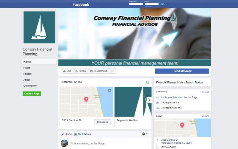Conway Financial Facebook Cover. This link opens new window.