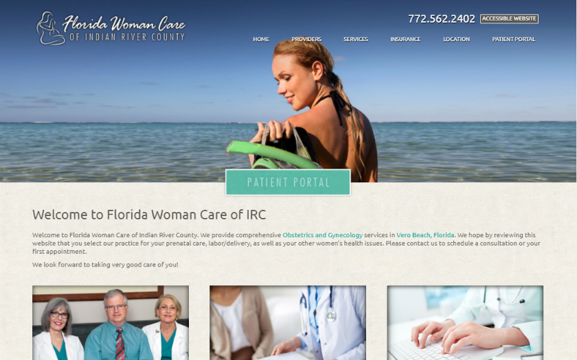 Florida Woman Care  Homepage. This link opens new window.