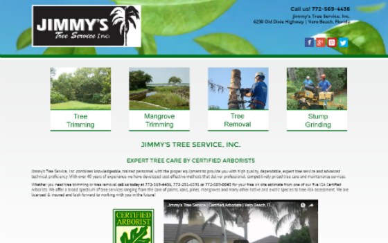 Jimmy's Tree Service. This link opens new window.