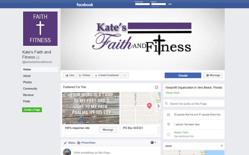 Kates Facebook Page. This link opens new window.