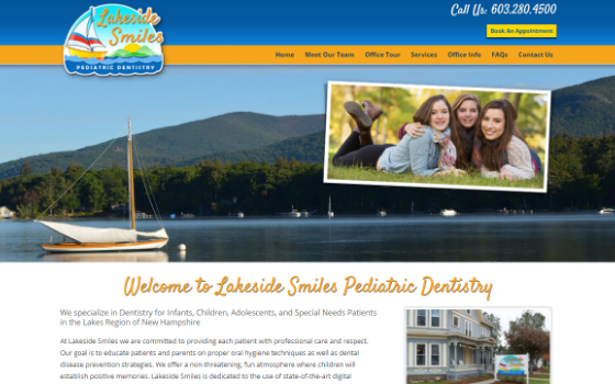 Visit Lakeside Smiles.com. This link opens new window.