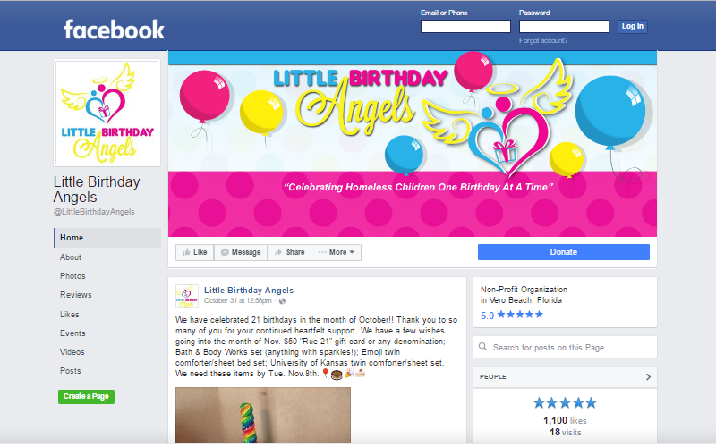 Little Birthday Angels Facebook Page. This link opens new window.