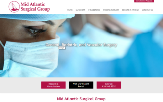 Mid Atlantic Surgical Group. This link opens new window.
