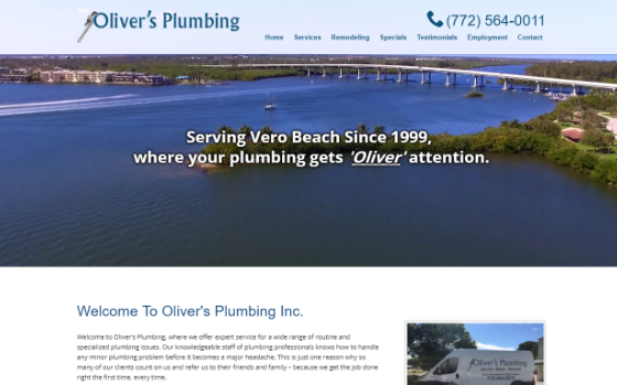 Olivers Plumbing. This link opens new window.