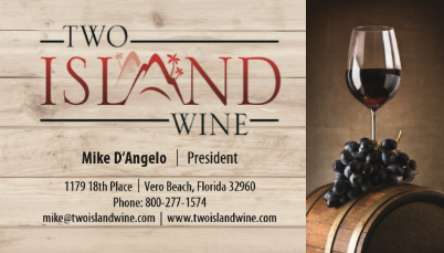 Two Island Wine Business Card