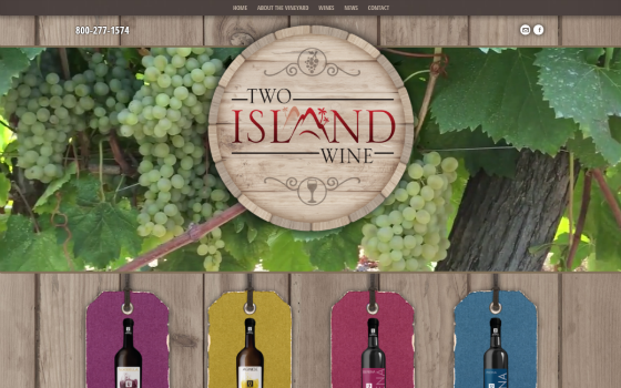 Visit Two Island Wine. This link opens new window.