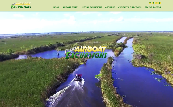 Florida Airboat Excursions. This link opens new window.
