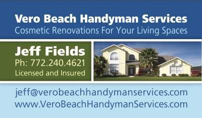 Vero Beach Handyman Services Business Card