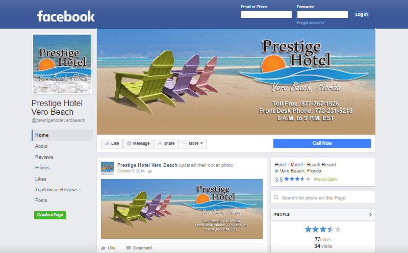 Prestige Hotel Facebook Page. This link opens new window.